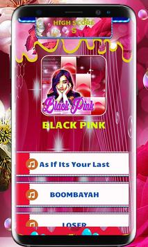 BLACK PINK PIANO TILES poster