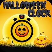 Pop the clock Halloween icon