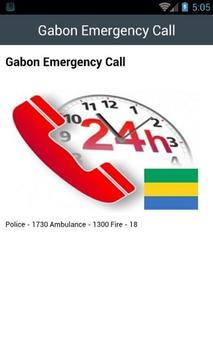 Gabon Emergency Call apk screenshot