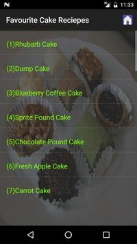 Favourite Cake Recipes screenshot 1