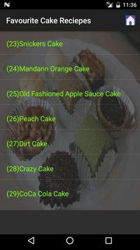 Favourite Cake Recipes screenshot 2
