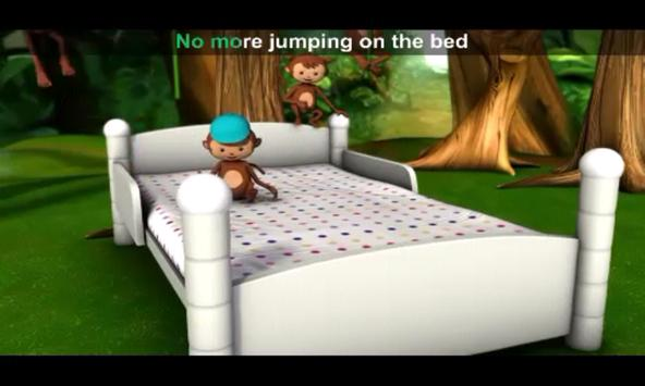 5 Little Monkey Jumpin-nursery apk screenshot