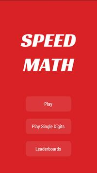 Speed Math - Time challenge poster