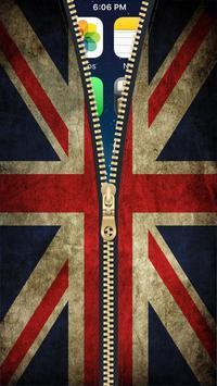 UK Flag Zipper Lock Screen HD apk screenshot