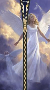 Angel Zipper Lock Screen HD poster
