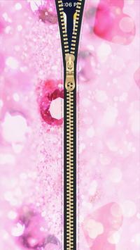 Diamond Zipper Lock Screen HD apk screenshot