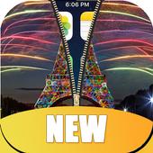 Paris Zipper Lock Screen HD icon