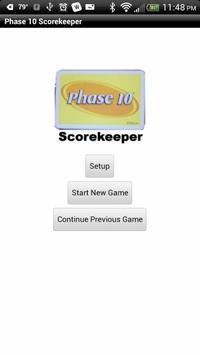 Phase 10 Scorekeeper Free poster