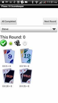 Phase 10 Scorekeeper Free screenshot 2