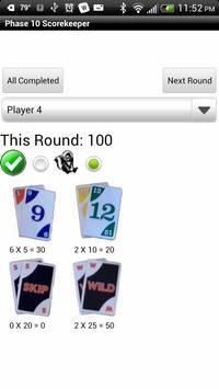 Phase 10 Scorekeeper Free apk screenshot