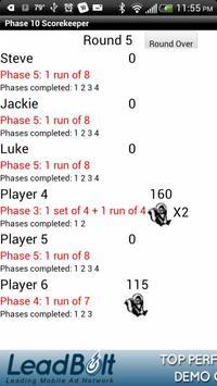 Phase 10 Scorekeeper Free screenshot 5