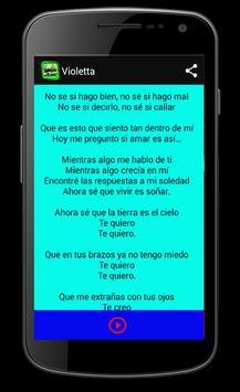 Musica Violetta apk screenshot