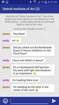 Gadly - Location Chat (Alpha) poster