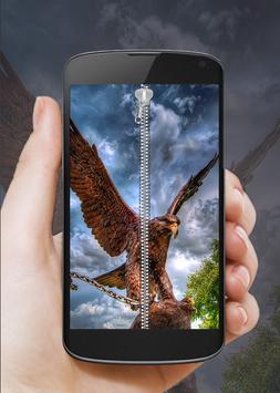 Eagle Zip Screen Lock poster