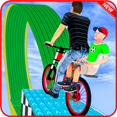 Super Dad BMX Bicycle Stunts icon