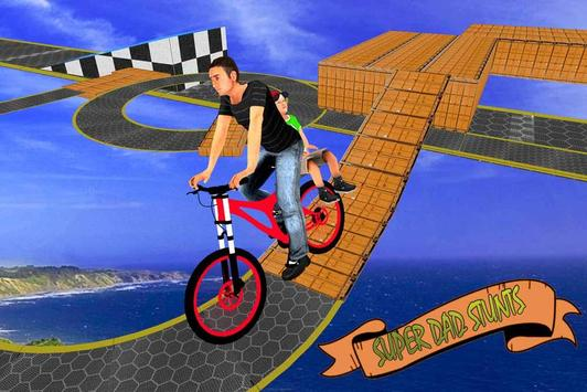 Super Dad BMX Bicycle Stunts poster
