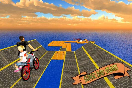 Super Dad BMX Bicycle Stunts screenshot 2