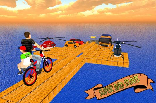 Super Dad BMX Bicycle Stunts screenshot 4