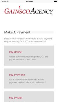 GAINSCO Auto Insurance apk screenshot