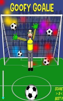 Goofy Goalie soccer game poster