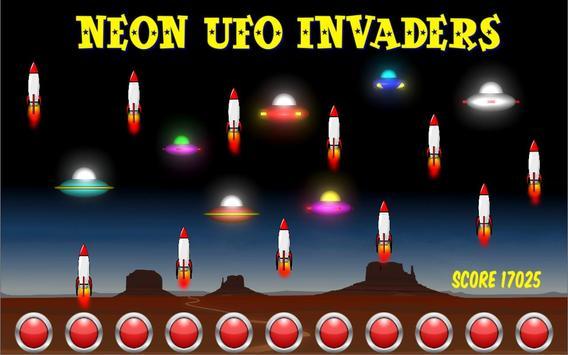 Neon UFO Invaders screenshot 4