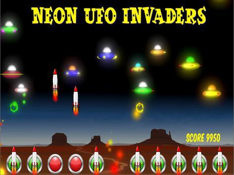 Neon UFO Invaders screenshot 9