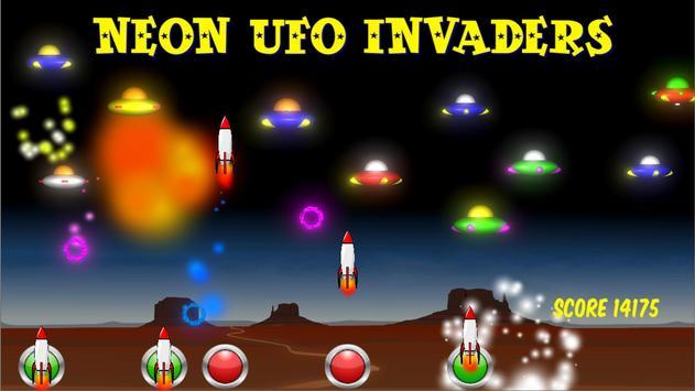 Neon UFO Invaders screenshot 13