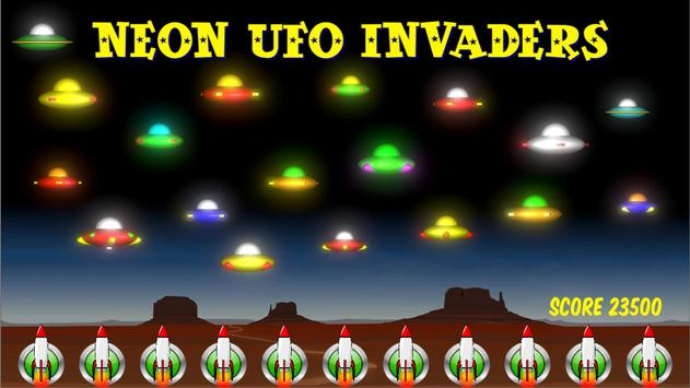Neon UFO Invaders screenshot 12