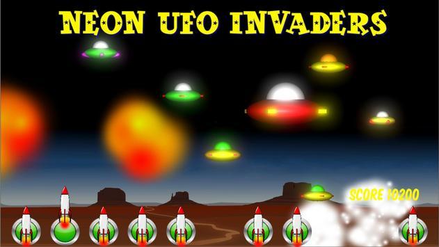 Neon UFO Invaders screenshot 17
