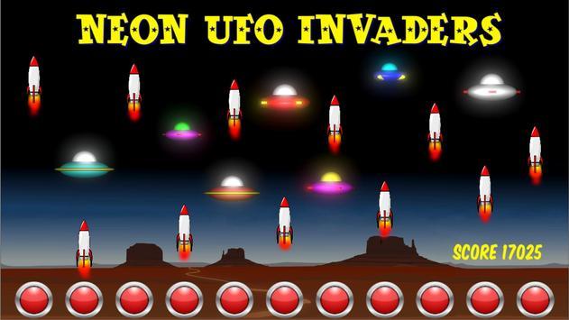 Neon UFO Invaders screenshot 16
