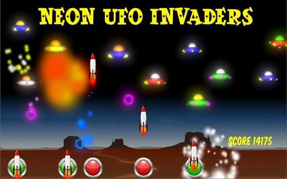 Neon UFO Invaders screenshot 1