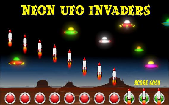 Neon UFO Invaders screenshot 2