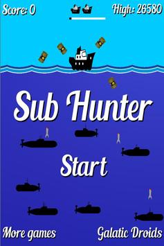 Retro Sub Hunter poster