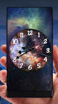 Galaxy Analog Clock Live Wallpaper poster