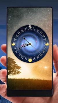 Galaxy Analog Clock Live Wallpaper screenshot 1