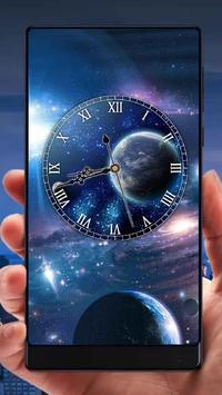 Galaxy Analog Clock Live Wallpaper screenshot 2