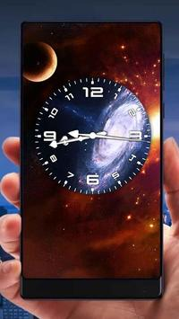Galaxy Analog Clock Live Wallpaper screenshot 3
