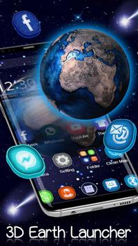 Tema 3D Galaxy Space Earth poster