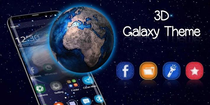 Tema 3D Galaxy Space Earth screenshot 3
