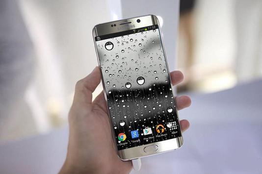 Glass Raindrops Live Wallpaper poster