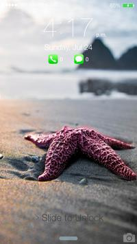 Water Drop Lock Screen OS10 apk screenshot