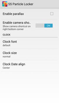 S5 Particle Locker apk screenshot