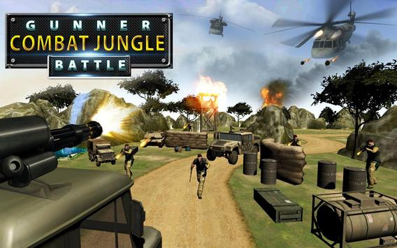 Gunner Combat Jungle Battle poster