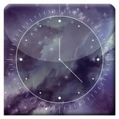 Galaxy X HD Analog Clock LWP icon