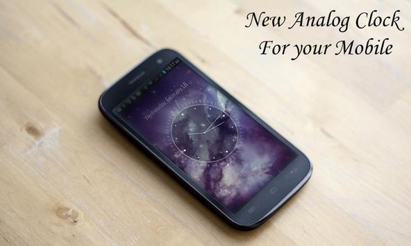 Galaxy X HD Analog Clock LWP poster