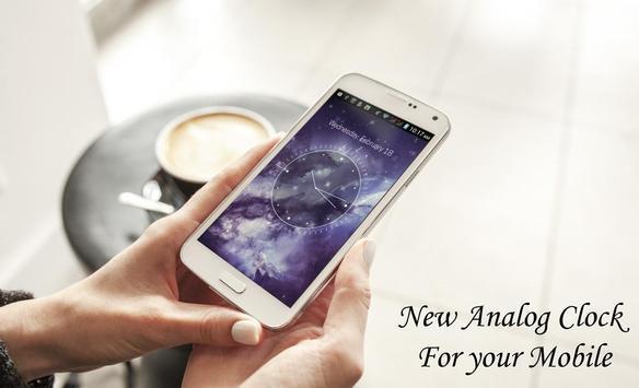 Galaxy X HD Analog Clock LWP screenshot 1