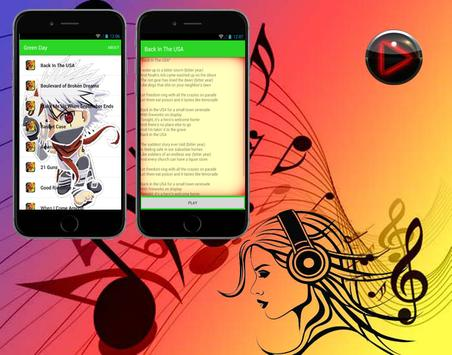 Green Day - Back In The USA - Top Music and Lyric apk screenshot