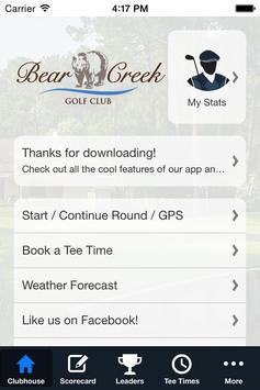 Bear Creek Golf Club screenshot 1