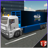 Milk transporter euro truck icon