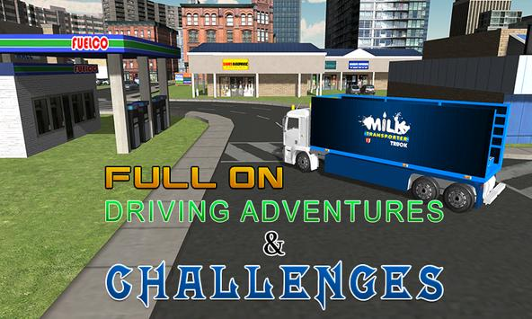 Milk transporter euro truck apk screenshot